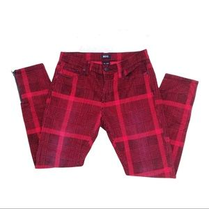 Urban Outfitters BDG Corduroy Red Plaid Pants 28